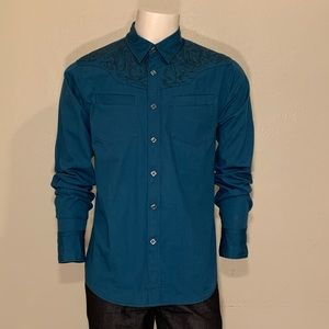 G by Guess Men's Embroidered Design Dress shirt